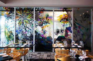 South Perth's Restaurant Rambla artwork Circulation by Minjae Lee